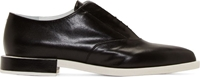 Jil Sander Black And White Leather Pointed Oxfords