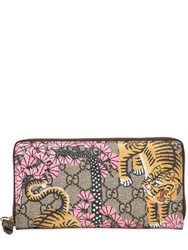 Gucci Tiger Cub Gg Supreme Zip Around Wallet
