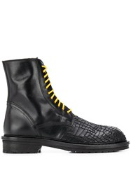 Ann Demeulemeester Embroidered Toe Lace Up Boots 60