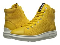 Ecco Soft 3 High Top Melon Melon Women's Lace Up Boots Yellow