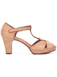 Chie Mihara Open Toe Sandals Women Leather Foam Rubber 39 Nude Neutrals