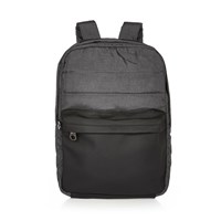 River Island Mens Grey Quilted Backpack