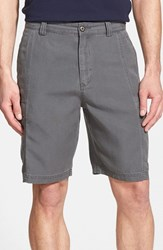 Tommy Bahama Men's Big And Tall 'Key Grip' Relaxed Fit Cargo Shorts Fog Grey