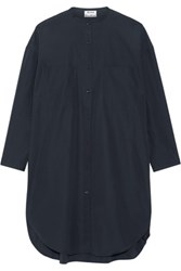 Acne Studios Esloane Cotton Poplin Shirt Dress Navy