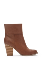 Forever 21 Cuffed Faux Leather Booties