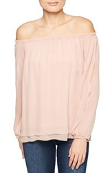 Sanctuary Women's Chantel Slit Sleeve Off The Shoulder Top Misty Rose