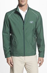 Cutter And Buck Men's Big Tall 'New York Jets Beacon' Weathertec Wind Water Resistant Jacket