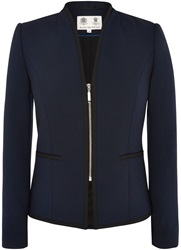 Austin Reed Piped Zip Jacket Navy