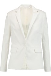 Rag And Bone Sidney Stretch Cotton Piqu And Eacute Blazer White