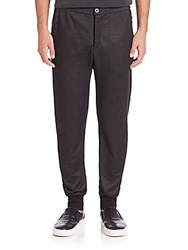 John Varvatos Rib Cuff Knit Pants Black
