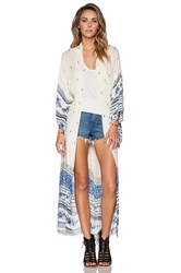 Spell And The Gypsy Collective Thunderbird Maxi Kimono Ivory