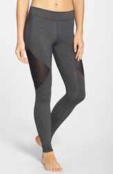 Solow Mesh Inset Leggings Grey