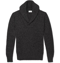 Brioni Cashmere Shawl Collar Sweater Black