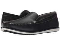 Hush Puppies Bob Portland Black Leather Men's Slip On Shoes