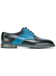 Dolce And Gabbana Two Tone Lace Up Shoes Blue