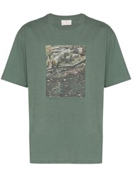 Song For The Mute Bush Print T Shirt Green