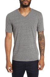 Goodlife Men's V Neck T Shirt Heather Grey