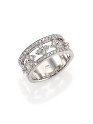 Kwiat Jasmine Diamond And 18K White Gold Partway Ring White Diamond