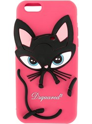 Dsquared2 Cat Iphone Cover Pink And Purple