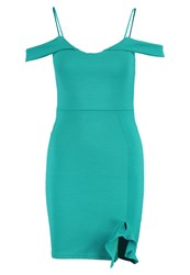 Missguided Shift Dress Teal Blue