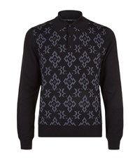 Billionaire Monogram Polo Sweater Male Black
