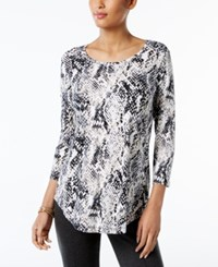 Jm Collection Printed T Shirt Only At Macy's Black Texture