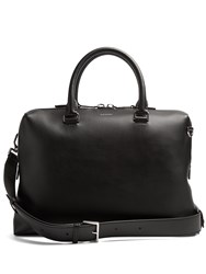 Lanvin Grained Leather Briefcase Black