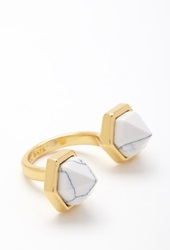 Forever 21 Cc Skye Duality Ring Gold White
