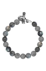King Baby Studio Men's Labradorite Bead Bracelet