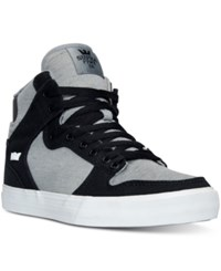 Supra Men's Vaider Casual Skate High Top Sneakers From Finish Line Black Grey White