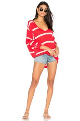 Free People Upstate Stripe Tee Red