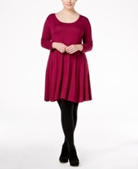 Styleandco. Style Co. Plus Size Swing Dress Only At Macy's Magenta Blossom