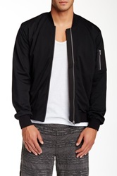 Shades Of Grey Mesh Bomber Jacket Black