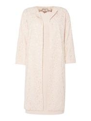 Adrianna Papell Two Piece Dress With Full Length Jacket Blush