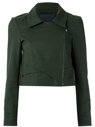 Giuliana Romanno Panelled Jacket Green
