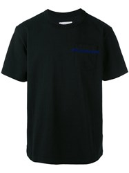 Sacai Round Neck T Shirt Men Cotton S Black