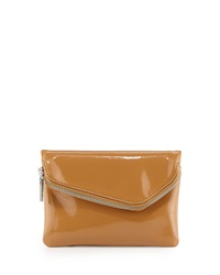 Hobo Daria Patent Leather Crossbody Bag Camel