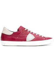 Philippe Model Classic Lace Up Sneakers Red