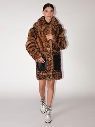 Coach Signature Shearling Coat Leopard