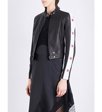 Belstaff Staithes Leather Jacket Black White