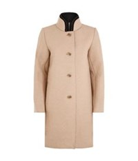 Maje Grace Neoprene Lined Overcoat Brown