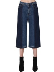 Mcq By Alexander Mcqueen Cropped Patchwork Denim Jeans Blue