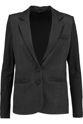 Tart Collections Paneled Jacquard And Stretch Jersey Blazer Black