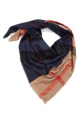 Burberry Men's Check Silk Blend Travel Scarf
