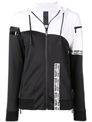 Philipp Plein Striped Hoodie Black