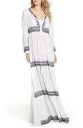 Muche Et Muchette Gitana Maxi Cover Up Dress Black White