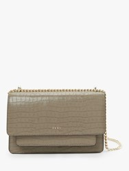 Dkny Bryant Croc Embossed Leather Small Chain Shoulder Bag Dune