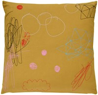 K Studio Abstract Pillow Blue
