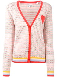Chinti And Parker Spotted Cardigan Women Cashmere M Pink Purple