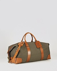 Polo Ralph Lauren Canvas And Leather Duffel Bag